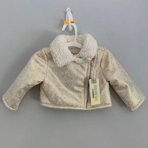 OshKosh Genuine Kids Girls Gold Metallic Jacket